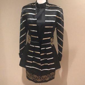 Evelyn miles New York black gold vtg 8 dress xs